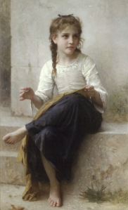 W.A. Bouguereau - Jovem Menina a Costurar